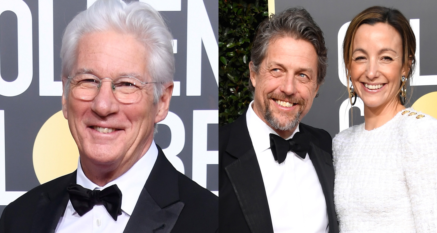 Richard Gere Joins Hugh Grant & Wife Anna Eberstein At