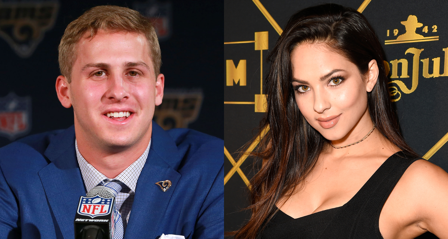 Who Is Rams Quarterback Jared Goff Dating Meet His Rumored Girlfriend Christen Harper 2019 Super Bowl Christen Harper Jared Goff Sports Just Jared