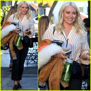 Hilary Duff Shows Off Platinum Blonde Locks While Leaving the Salon!