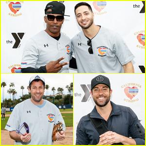 Jamie Foxx, Adam Sandler, Zachary Levi & More Team Up for Celebrity Softball Benefit Game!