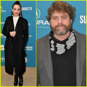 Jenny Slate & Zach Galifianakis Premiere 'The Sunlit Night' at Sundance Film Festival 2019