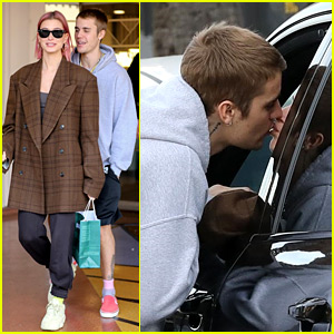 Justin Bieber Kisses Wife Hailey Goodbye After Book Shopping