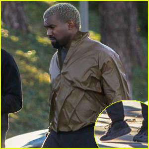Kanye West Rocks Unreleased Yeezys to a Business Meeting