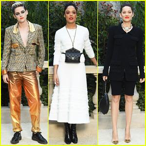 Kristen Stewart, Tessa Thompson & Marion Cotillard Step Out for Chanel Haute Couture Paris Show!