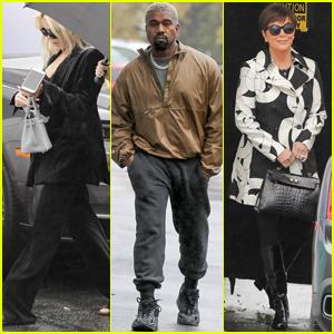 Khloe Kardashian, Kanye West & Kris Jenner Film 'Keeping Up With the Kardashians' in Rainy LA!