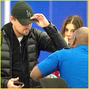 Leonardo DiCaprio & Camila Morrone Land at JFK Airport in NYC
