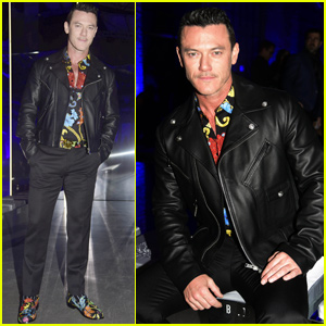 Luke Evans Sits Front Row at 'Versace' Fashion Show in Milan!
