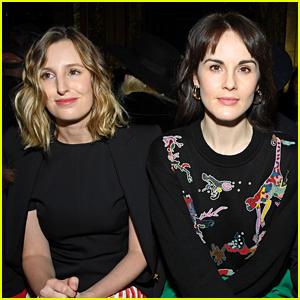 Michelle Dockery & Laura Carmichael Have a 'Downton Abbey' Reunion in Paris!