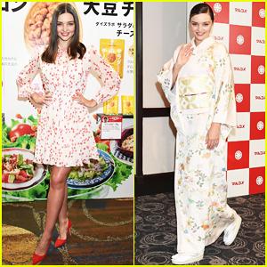 Miranda Kerr Represents Marukome in Tokyo!