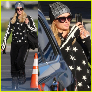 8faec0cf94 Paris Hilton Jets Home After Spending New Year s Eve in Aspen ...