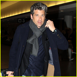 Patrick Dempsey Looks So Handsome While Arriving in Boston