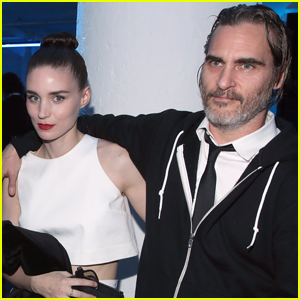 Rooney Mara & Joaquin Phoenix Pose Together at Art of Elysium Event!