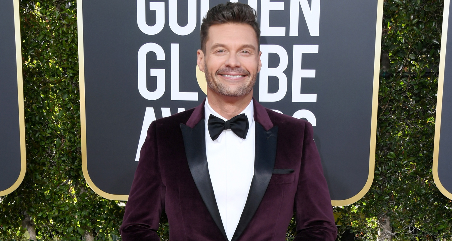 Ryan Seacrest Shows His Style At Golden Globes 2019