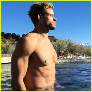 Trevor Donovan Takes a Dip in the Mammoth Hot Springs on New Year's Day!