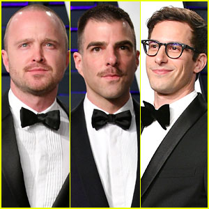 Aaron Paul, Zachary Quinto, & Andy Samberg Hit Up Vanity Fair's Oscars 2019 Party!