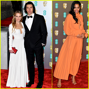 Adam Driver Suits Up for BAFTAs 2019, Laura Harrier Supports 'BlacKkKlansman'