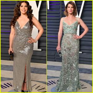 America Ferrera & Cobie Smulders Hit the Red Carpet at Vanity Fair's