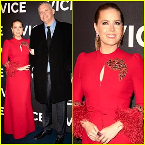 Amy Adams Is Ravishing in Red at 'Vice' Paris Premiere