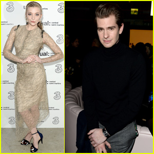 Andrew Garfield & Natalie Dormer Sit Front Row for 'Central St Martins' Show