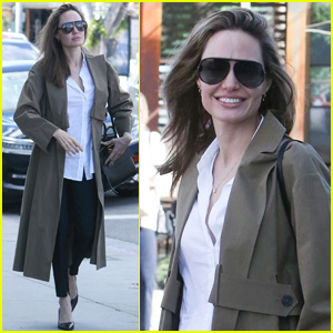 Angelina Jolie Gets Some Shopping Done on Melrose Ave