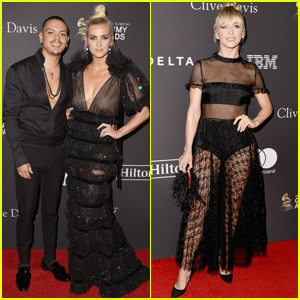 Ashlee Simpson & Evan Ross Join Julianne Hough at Clive Davis' Pre-Grammys Party