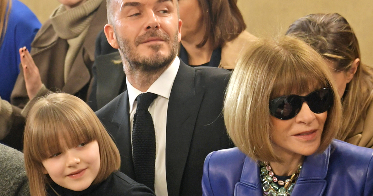 harper beckham 7 and anna wintour have the same haircut