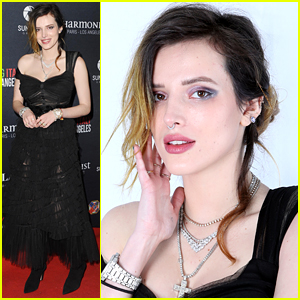 Bella Thorne Wows in a Black Dress at Filming in Italy Festival 2019