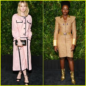Carey Mulligan & Lupita Nyong'o Look Fashionable at Chanel Oscars Pre-Party!
