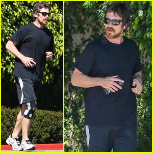 Christian Bale Goes For a Jog in Santa Monica