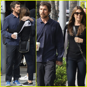 Christian Bale & Wife Sibi Share Sweet Moment After Lunch Date