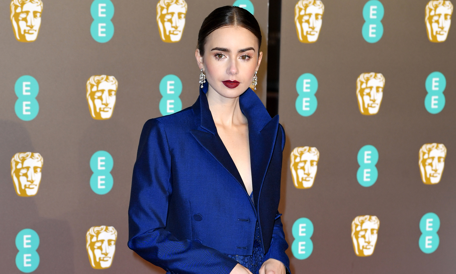 Baftas 2019: Lily Collins Is A Blue Beauty On BAFTAs 2019 Red Carpet