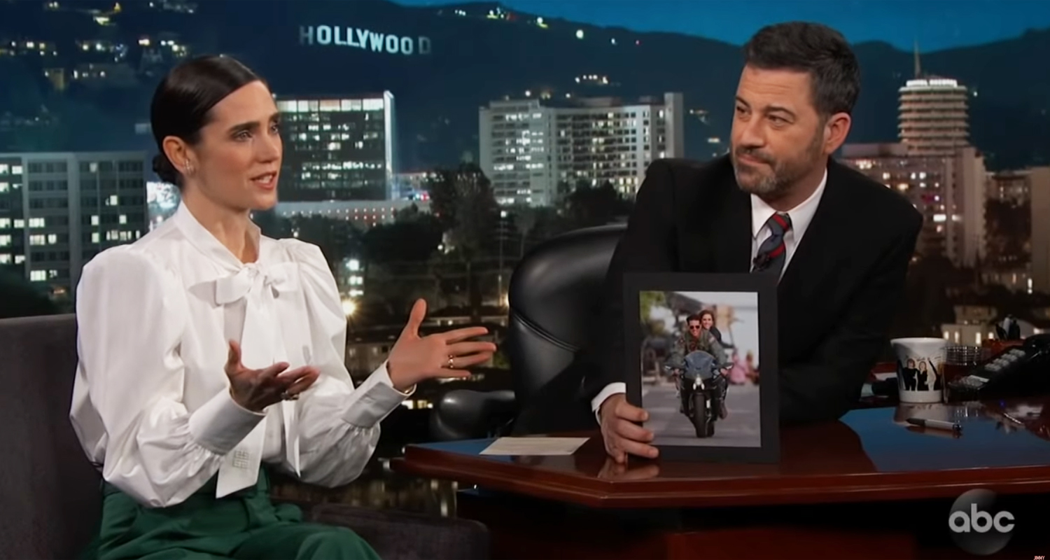 Jennifer Connelly Talks Riding Motorcycle With Tom Cruise