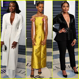 Danai Gurira, Letitia Wright, & Angela Bassett Shine at Vanity Fair Oscars Party