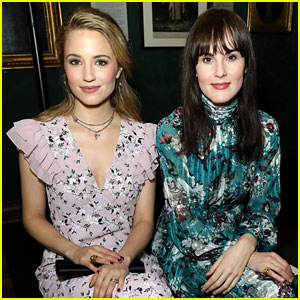 Dianna Agron & Michelle Dockery Sit Together at Erdem Show