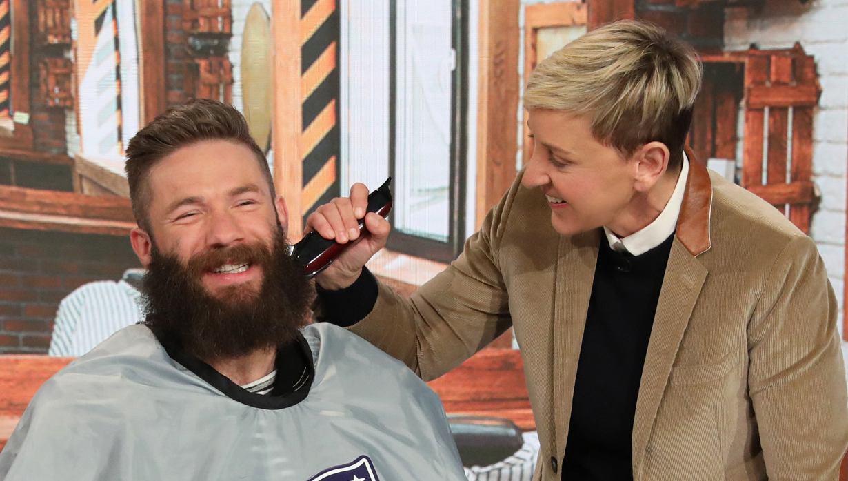 Patriots Julian Edelman Shaves Off His Beard With Ellen S