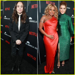Ellen Page Joins Mary J. Blige & Kate Walsh at 'The Umbrella Academy' Premiere