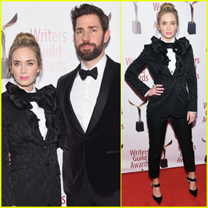 Emily Blunt & John Krasinski Suit Up for Writers Guild Awards 2019
