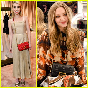 Emma Roberts & Amanda Seyfried Step Out for Fendi Event in NYC