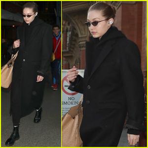 Gigi Hadid Arrives in London For Fashion Week Events!