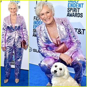 Glenn Close Brings Her Dog Pip to Spirit Awards 2019!