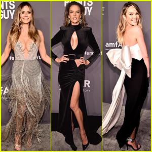 Heidi Klum, Alessandra Ambrosio, & Candice Swanepoel Stun at amfAR New York Gala 2019