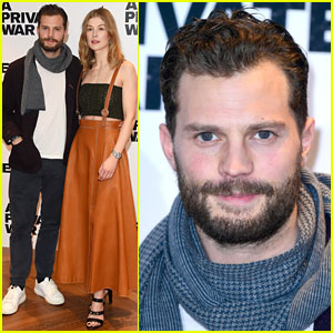 Jamie Dornan & Rosamund Pike Reunite to Promote 'A Private War'
