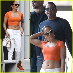 Jennifer Lopez Flaunts Her Abs While Shopping with Alex Rodriguez