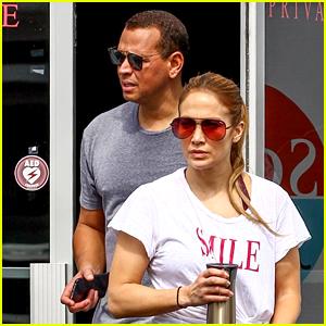 Jennifer Lopez & Alex Rodriguez Hit the Gym Together in Miami