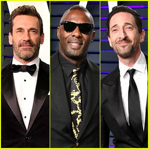 Jon Hamm, Idris Elba, & Adrien Brody Suit Up for Vanity Fair's Oscars 2019 Party