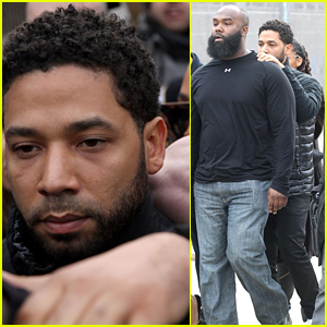 Jussie Smollett Leaves Jail After Posting Bond, Walks Through Giant Media Circus (Photos & Video)