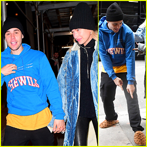 Justin Bieber Shows Off His Louis Vuitton Slippers to Hailey!