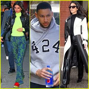 Kendall Jenner Hangs With Ben Simmons & Kourtney Kardashian in NYC