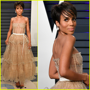 Kerry Washington Debuts Chic Bob Hairstyle at Vanity Fair Oscars Party