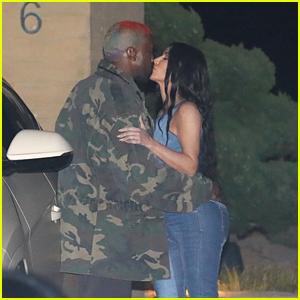 Kim Kardashian & Kanye West Share a Kiss While Celebrating Jonathan Cheban's Birthday!